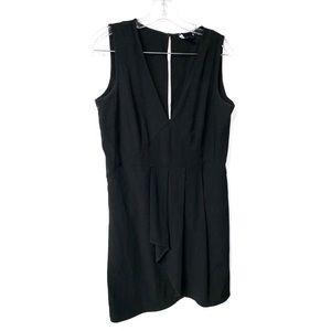 gap tiered black dress